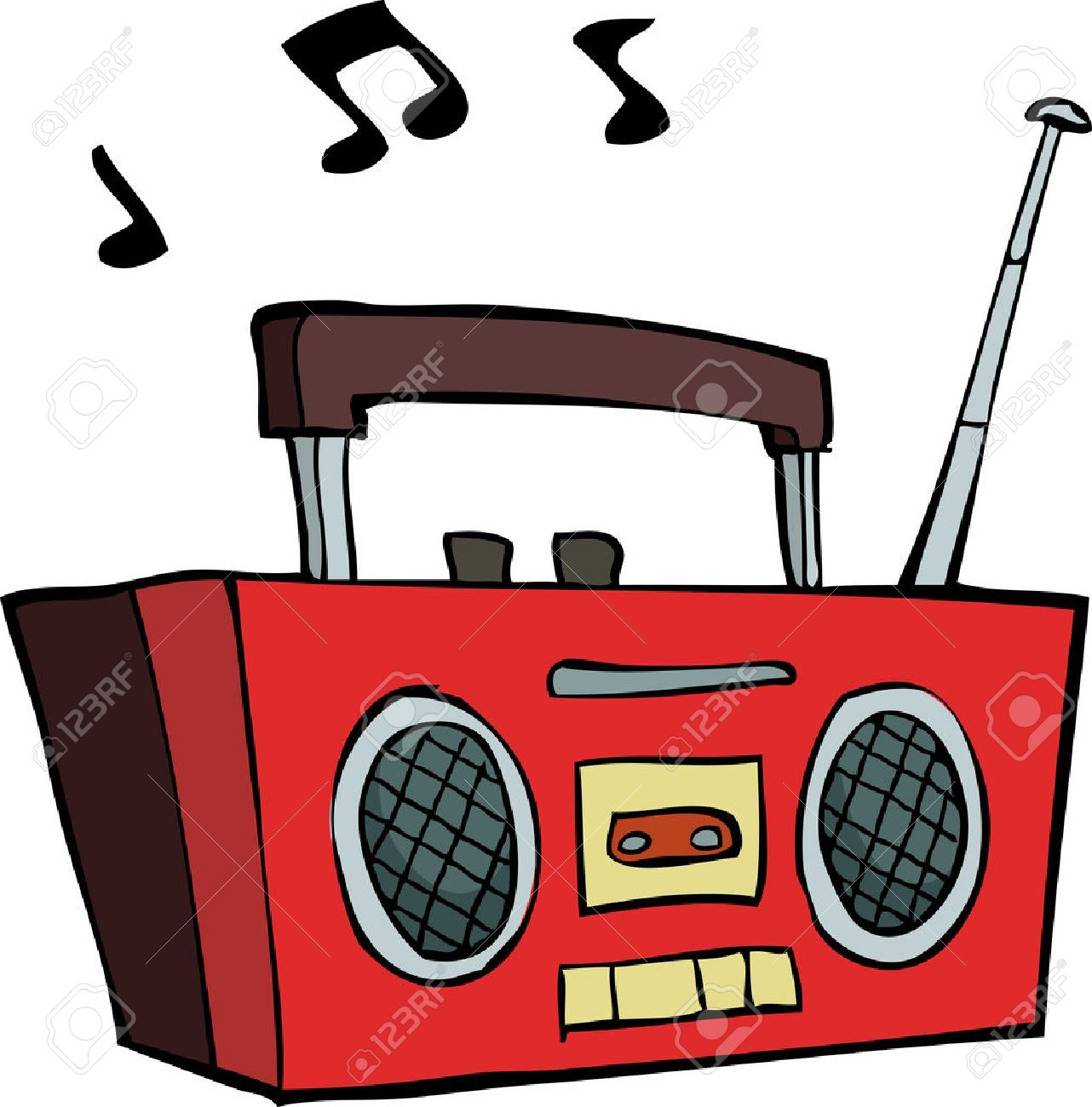 Best of radio gallery. Boombox clipart simple