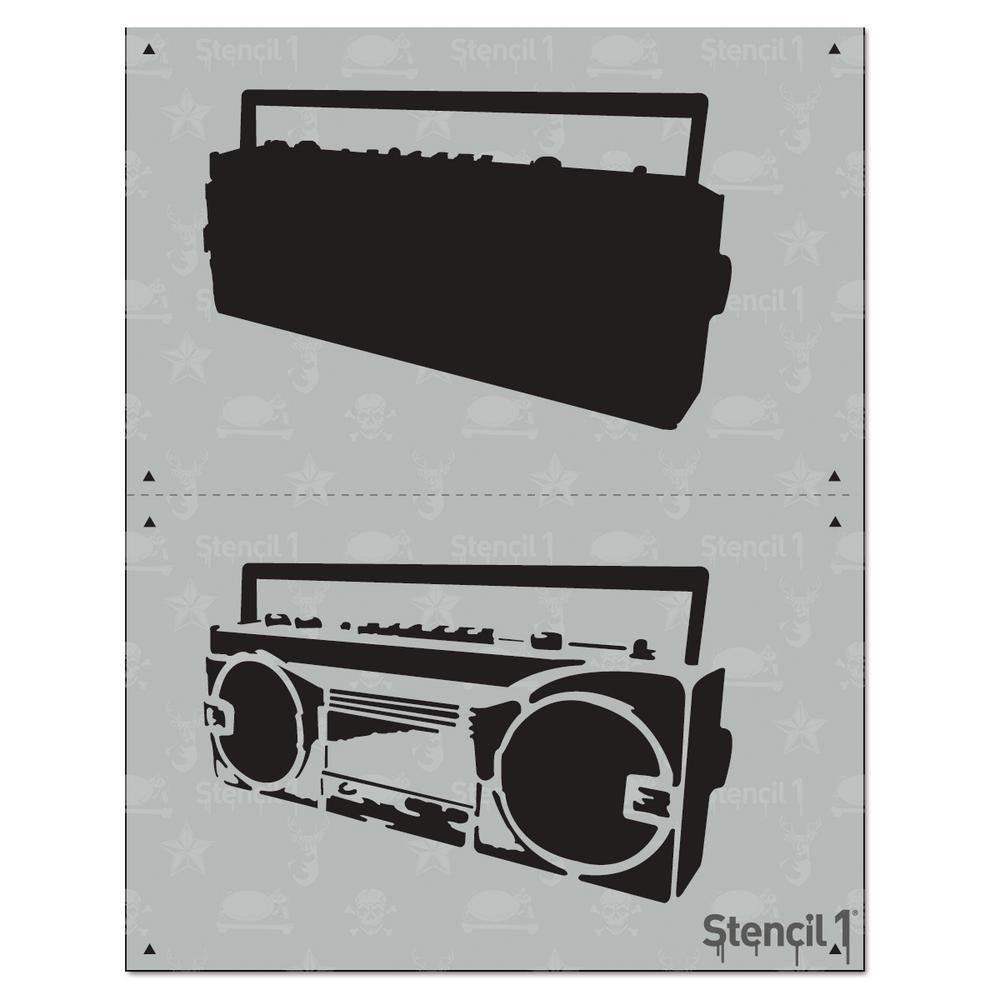 Boombox clipart stencil. Boom box layer s