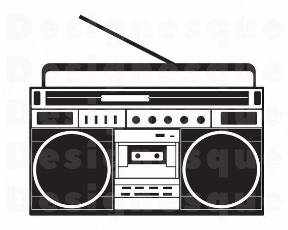 Boombox clipart svg. Radio files for cricut