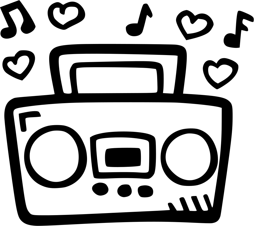 Png icon free download. Boombox clipart svg