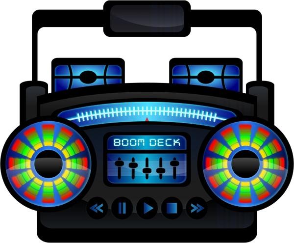 Boombox clipart svg. Mini boom box free