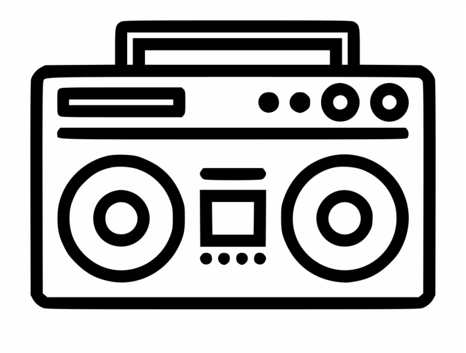 Icon free download png. Boombox clipart svg
