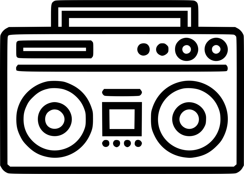 Boombox clipart svg. Png icon free download