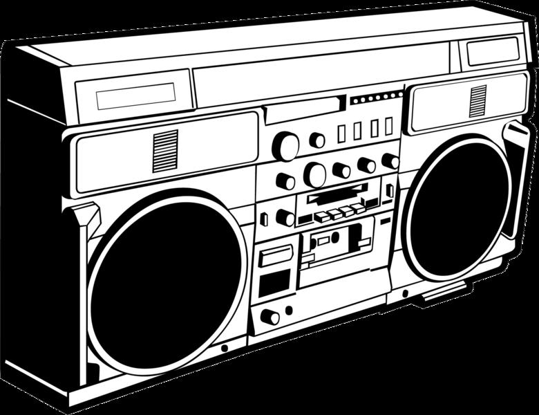 Electronics clipart drawing. Boom box at getdrawings