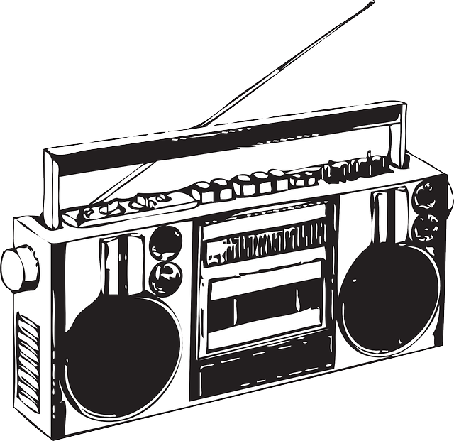 Png radio black and. Clipart music stereo