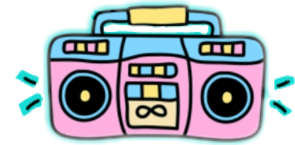 Popular and trending stickers. Boombox clipart transparent background