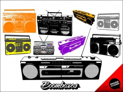 Boombox clipart vector. Free boomboxess and graphics