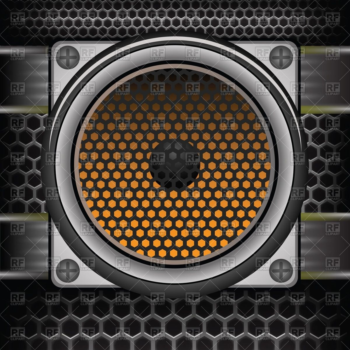 Boombox clipart vector. Speakers pencil and in