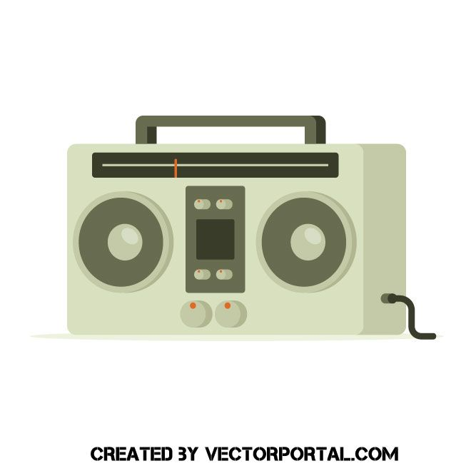Icon freebie illustration freevectors. Boombox clipart vector