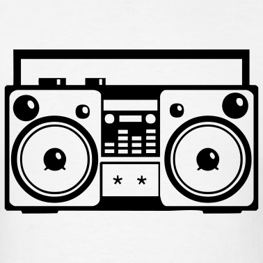 Lovely cartoon images drawing. Boombox clipart vector