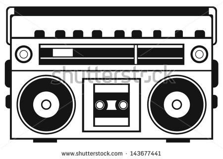 s collection stock. Boombox clipart vector