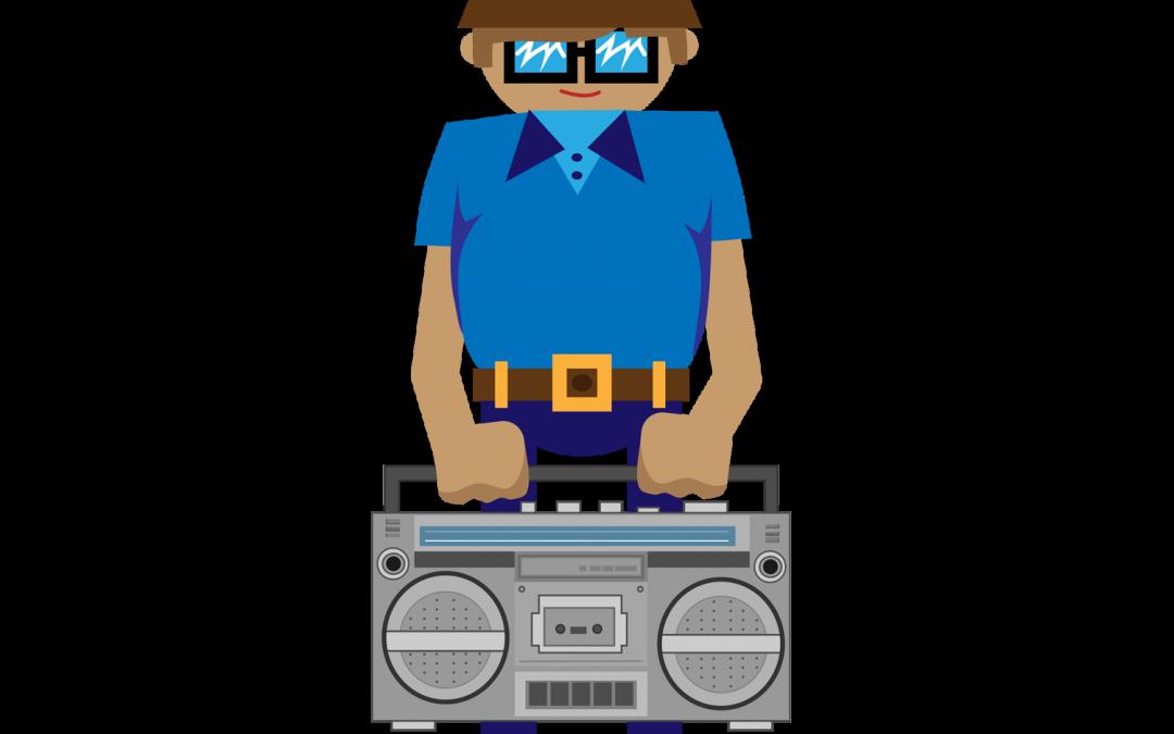 Boombox clipart vector. B boy illustration gif