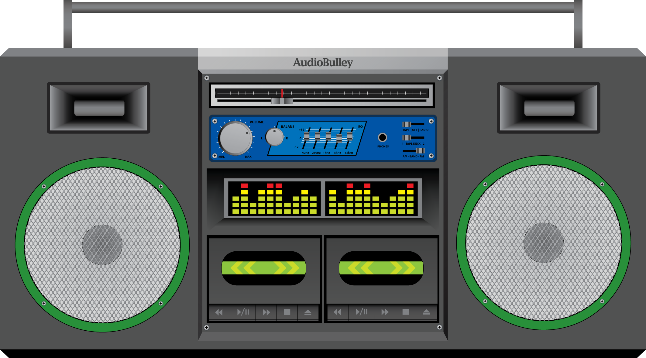 By n on deviantart. Boombox clipart vector