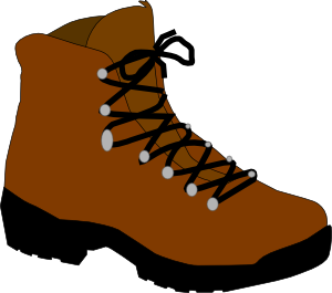 Hiking clip art at. Boot clipart