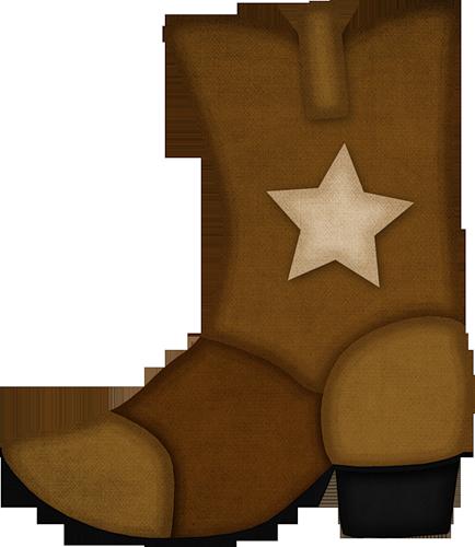 Bota de vaquero dibujo. Boot clipart