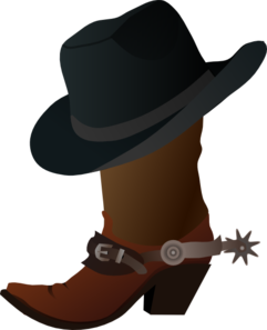 2 clipart cowboy hat. Boot and clip art