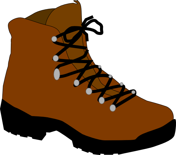 Hiking boot at clker. Clipart walking clip art