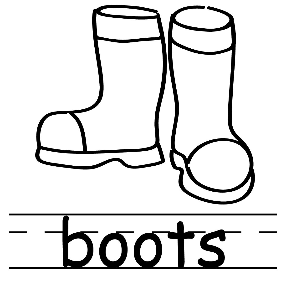 For rain boots seasons. Boot clipart black and white