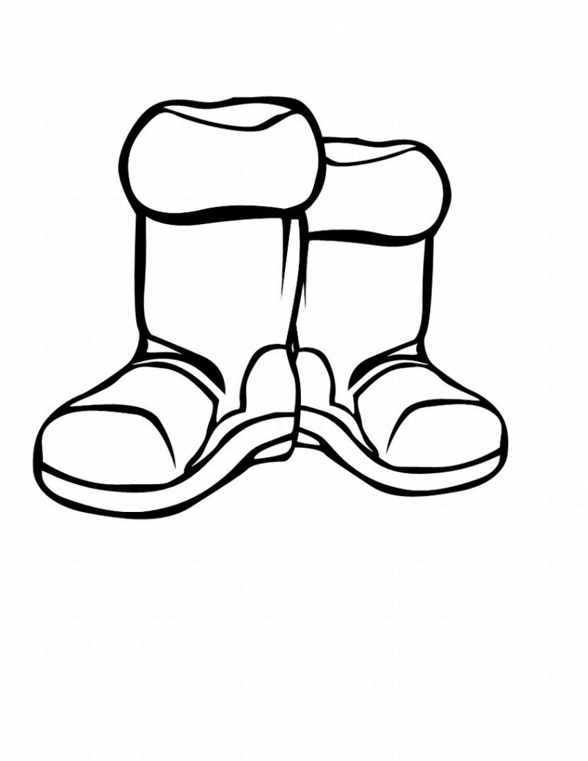 Boot clipart black and white. Winter boots letters pencil