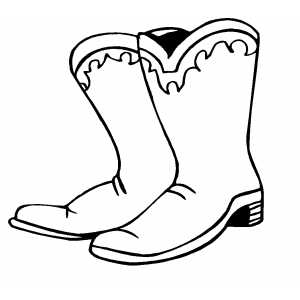 Boot clipart black and white. Cowboy boots free clipartix