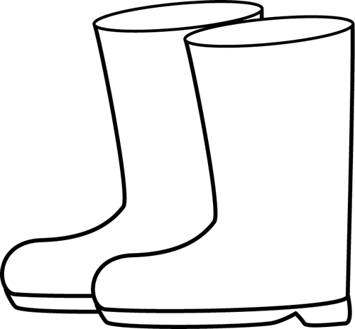 Boots clipart black and white. Rain clip art weather