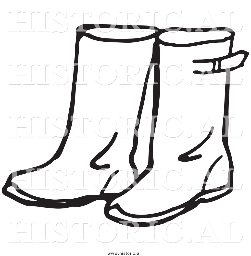 Boot clipart black and white. Cowboy boots panda free