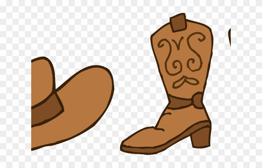 Boots . Cowgirl clipart brown cowboy boot