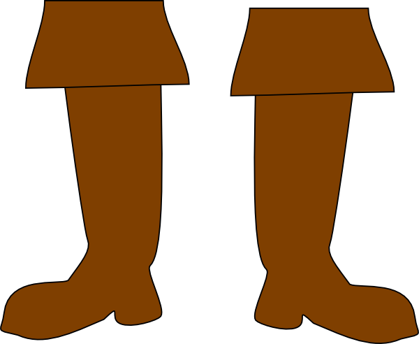 Pirate clip art at. Boots clipart brown boot