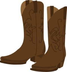 Boots clipart brown boot. Pictures of cowboy free