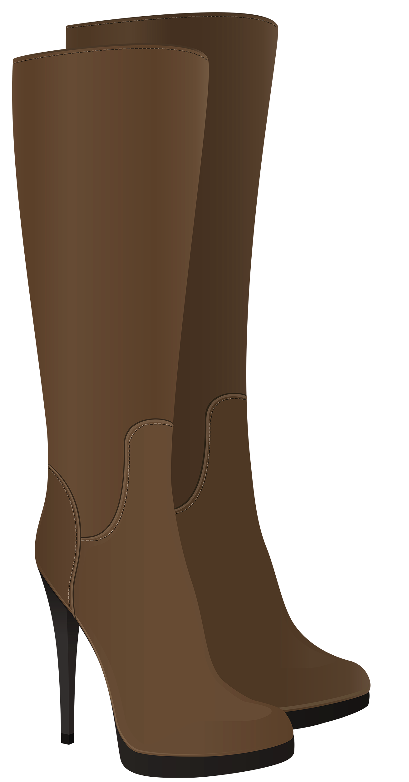 Female brown boots png. Hat clipart boot