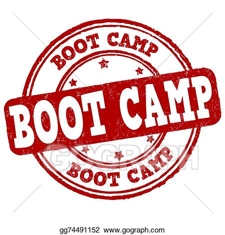 Boot clipart camping. Vector art camp stamp