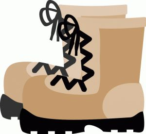 best lets go. Boot clipart camping