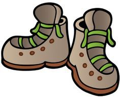 Camping hiking boots clip art