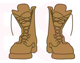 Free combat boots cliparts. Soldiers clipart shoe