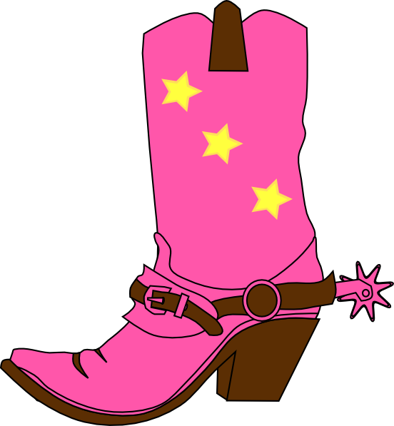 Cowboy boot silhouette at. Cowgirl clipart lil