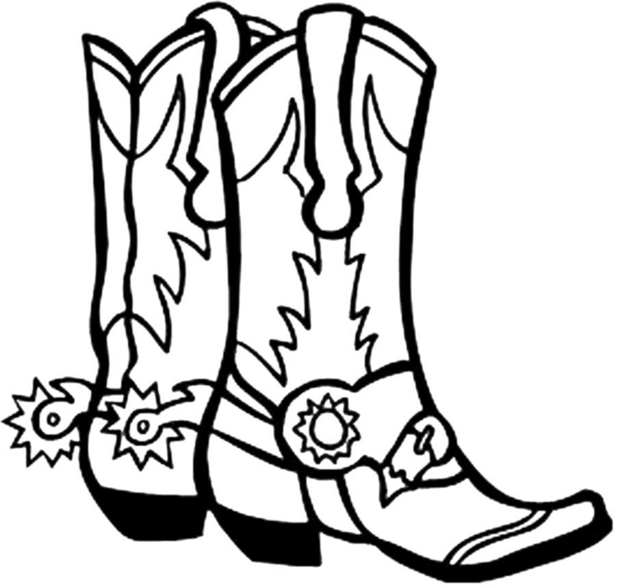 Clip art coloring fun. Boot clipart cowboy boot