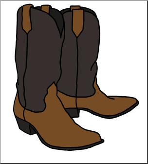 Boots clipart cowboy boot. Clip art western theme