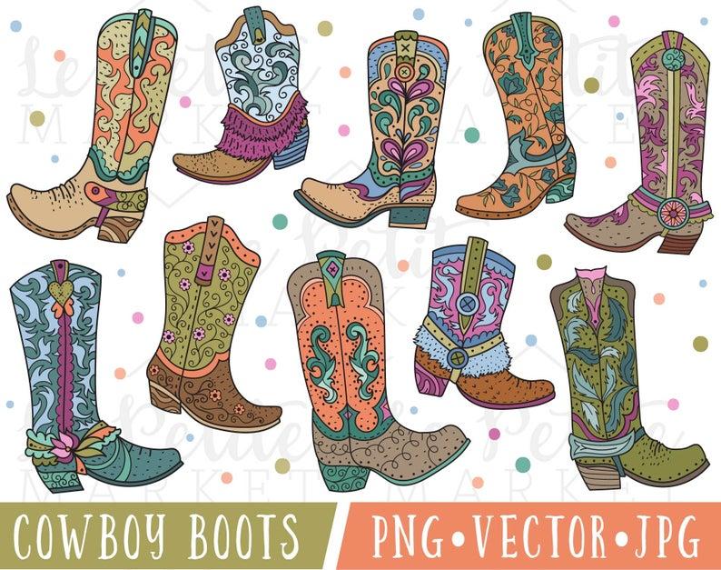 Cute cowgirl clip art. Boot clipart cowboy boot
