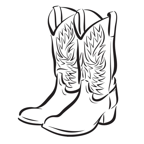 Clip art free images. Boots clipart cowboy boot
