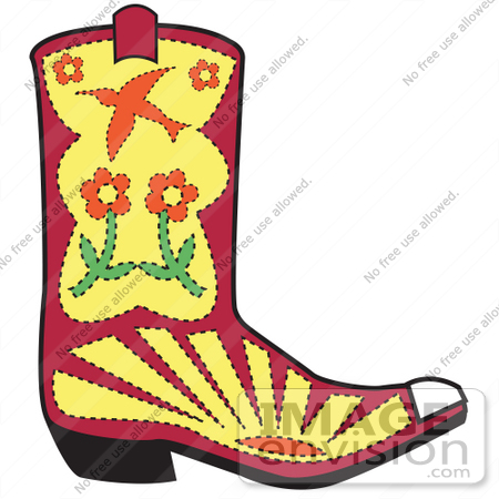 Cute Cowboy Boots Clipart
