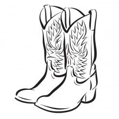 Boots clipart drawing. Line art graphic image