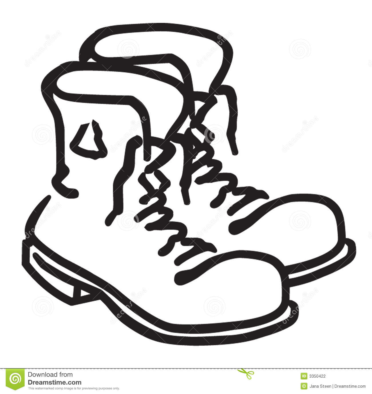 Hiking boot at getdrawings. Boots clipart drawing