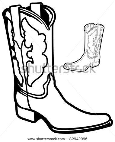 Cowboy Hat And Boots Drawing at GetDrawings