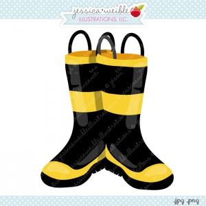 Firefighter Boots Clipart