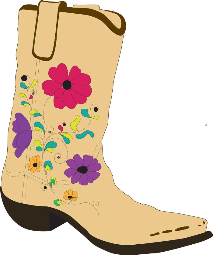 Cowboy clip art library. Boot clipart girl boot