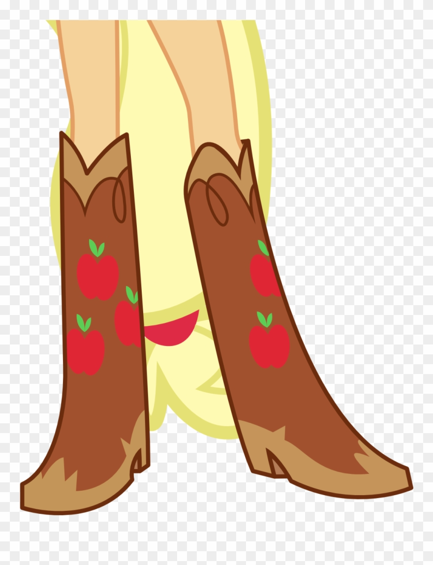 Boots applejack png download. Boot clipart girl boot