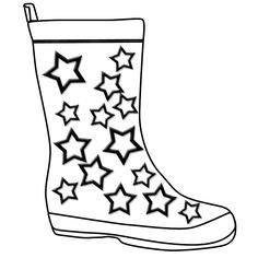 Boots clipart gum boot. Rain coloring page panda