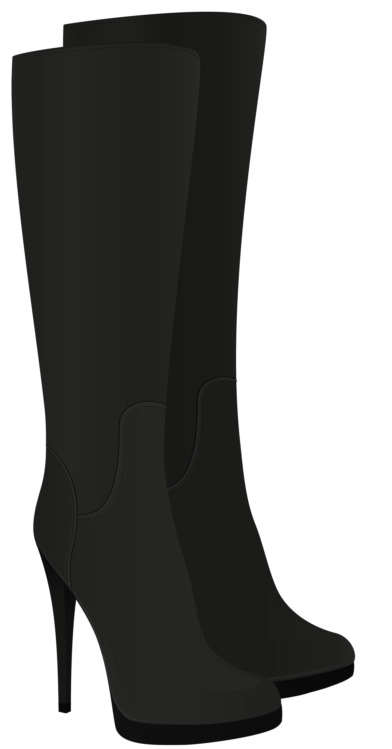 Boot clipart high boot. Female black boots png