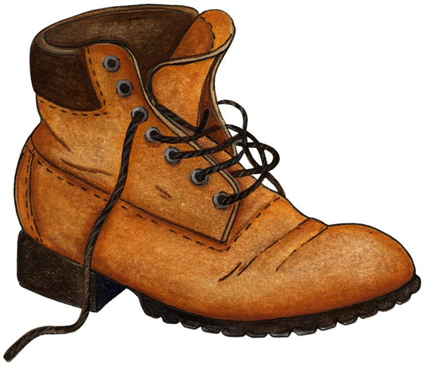 Free images at clker. Boot clipart hiking