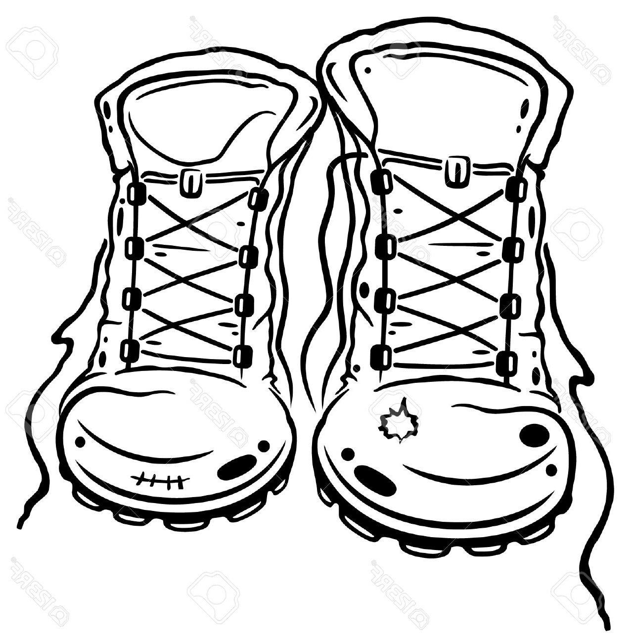 Boot clipart hiking. Drawing at getdrawings com